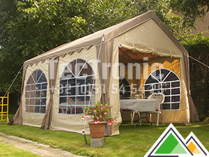 Polyester partytent 3x4 taupe/beige