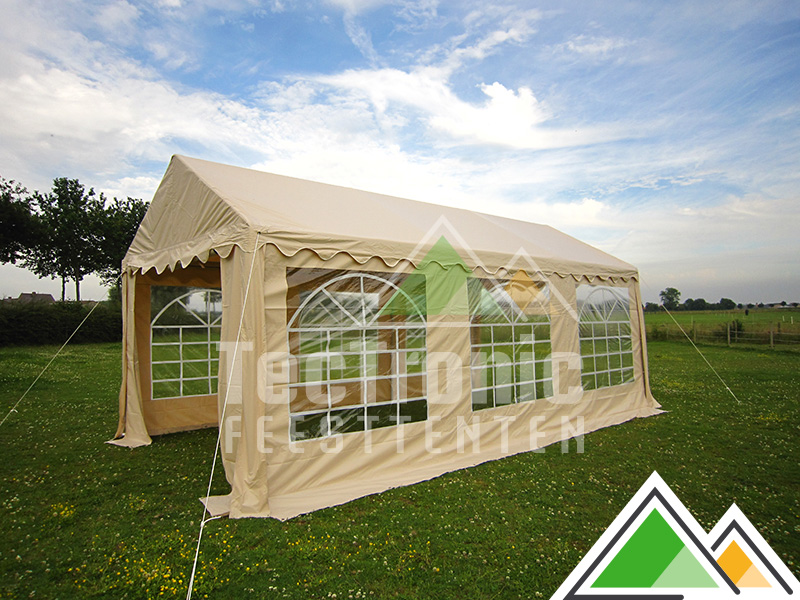 goedkope partytent 3x6 in pvc te koop beige of wit. Black Bedroom Furniture Sets. Home Design Ideas