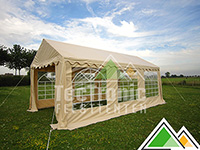 Partytent 4 bij 4 meter te koop in wit of beige pvc