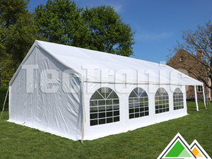 6x12 partytent in wit pvc
