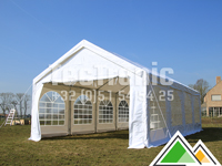 Professionele pvc partytent 6x12 in wit of beige