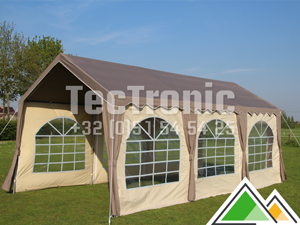 Polyester partytent basic 3x6 taupe/beige