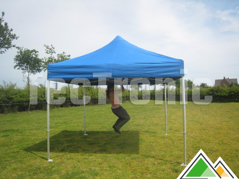 opvouwbare partytent 3x3 solid 50 wit of beige pvc 550 gr m brandvertragend. Black Bedroom Furniture Sets. Home Design Ideas